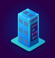 isometric 3d blockchain vector image vector image