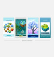 isometric game nature design vertical banners vector image