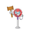 judge miniature no entry on mascot table vector image vector image