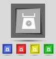 kitchen scales icon sign on the original five vector image vector image