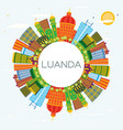 luanda angola city skyline with color buildings vector image vector image