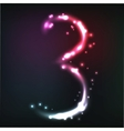 Luminous numbers vector | Price: 1 Credit (USD $1)
