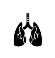 lungs black icon sign on isolated vector image vector image