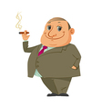 man smoking cigar vector image vector image