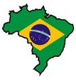Map in colors of Brazil vector image vector image
