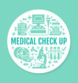 medical check up blue poster template flat vector image