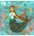 Mermaid pattern vector image vector image