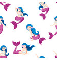 mermaid seamless pattern vector image vector image