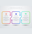 modern colorful infographic with 3 options vector image