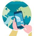 online communication concept international vector image vector image