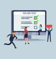 online survey smartphone laptop internet ui vector image vector image