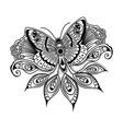 oriental floral butterfly mandala art beauty