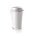 paper coffee cup isolated vector image vector image
