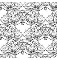 pattern with hand drawn fantastic vector image