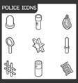 police color outline isometric icons vector image vector image