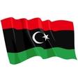 Political waving flag of libya vector image
