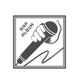 rap music logo vector image