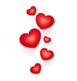 red hearts symbol vector image vector image