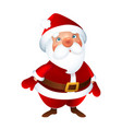 santa claus merry christmas and happy new year vector image