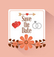 save the date card greeting invitation vector image vector image
