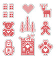 Scandinavian style icons vector image vector image