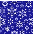 seamless background with snowflakes vector image vector image