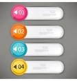 set colorful bookmarks stickers labels tags vector image