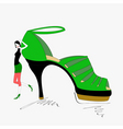 shoe shopping vector image vector image