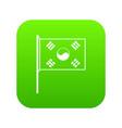 south korea flag icon digital green vector image vector image