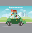 summer travel design vector image vector image