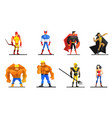 superheroes set different male and female vector image vector image