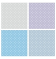 Tile blue pattern set with polka dots vector image