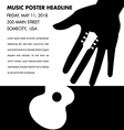 Unusual guitar poster vector image vector image