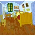van goghs bedroom vector image vector image