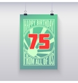 Vintage retro poster Happy birthday vector image vector image