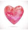 watercolor texture heart vector image