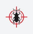 weevil icon red target vector image vector image
