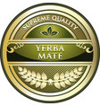 yerba mate product icon vector image vector image