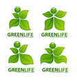 abstract green people for your ecology and health vector image