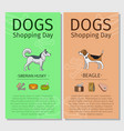 dogs shopping day flyers vector image