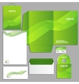 wave green vector image