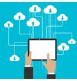 Cloud storage service and computing concept vector image