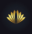 shape abstract flower gold logo vector image