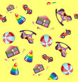 baby toys pattern seamless background vector image