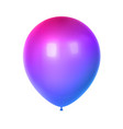 3d birthday balloon vector image vector image