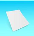 3d flyer paper mock-up design vector image