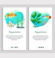 aquaristics fish in ocean or sea water seaweed vector image vector image