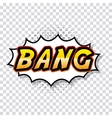 bang comic pop art style vector image vector image