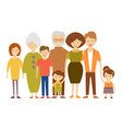 big nuclear family in flat vector image vector image