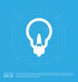 bulb icon vector image